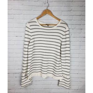 Lafayette 148 Cream & Black Striped Sweater